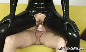 Aqua anal fuck and anal masturbate in Latex